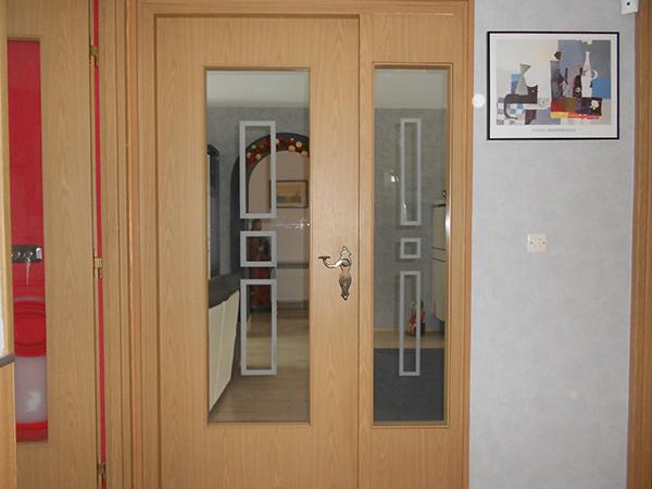 Moderniser une porte intrieure vitre porte interieur cm for Vitre de porte interieur